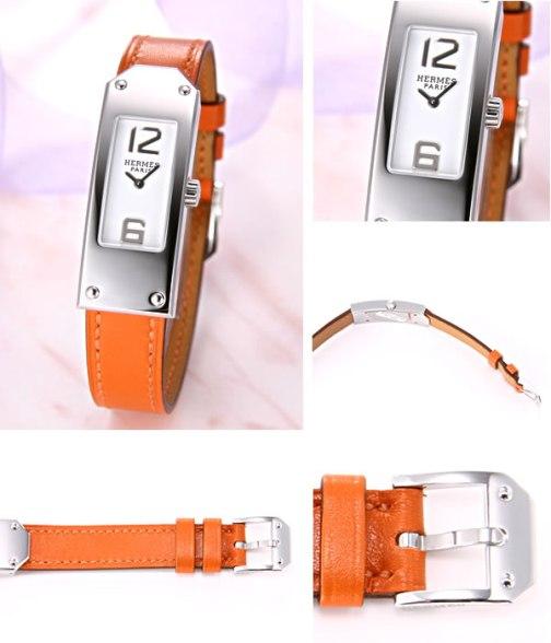 【HERMES】エルメス NEWモデル ケリー2 ホワイト/オレンジレザーストラップ KT1.210.130/WOR